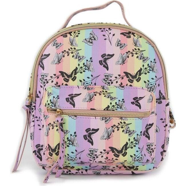 Christina Mini Backpack, Butterfly Rainbow