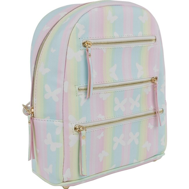 Emily Backpack, Butterfly Stripes