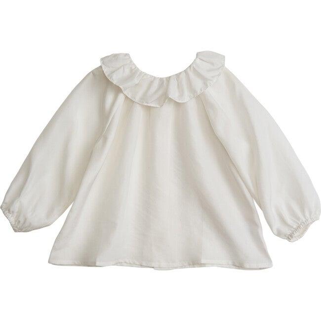 Ruffle Collar Blouse, Parchment