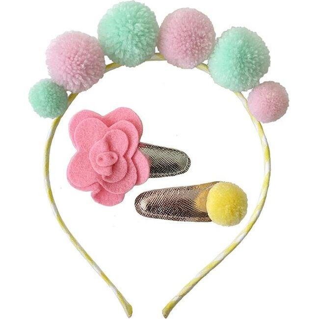 Headband & Hair Clip Set Pastel, Pastel - Hair Accessories - 1