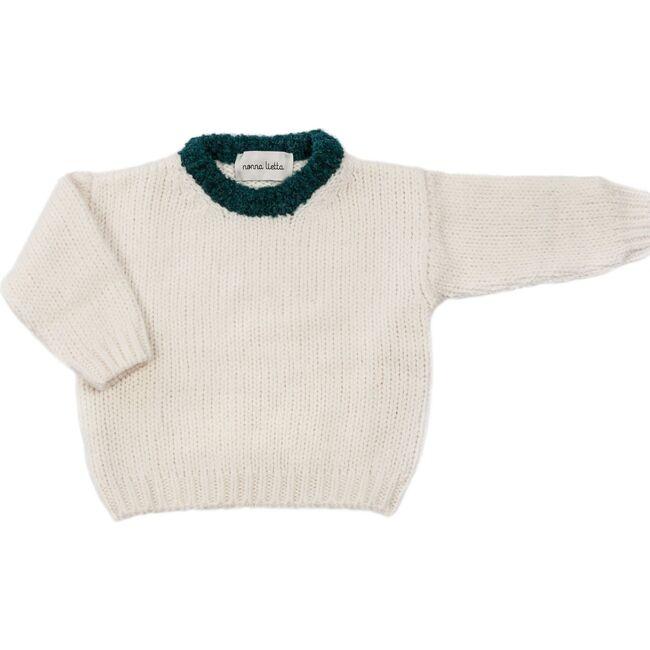Sweater, Bianco / Emerald