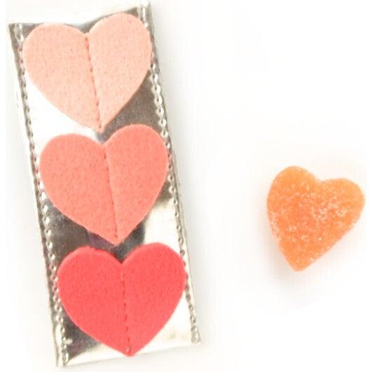Tripple Heart Clips, Peach