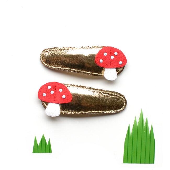 Mushroom Clips, Gold