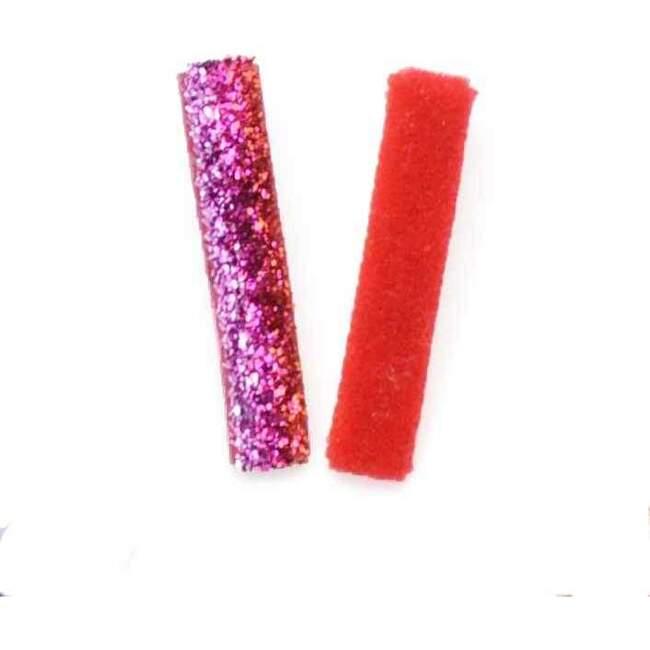 Velvet Glitter Duo, Red