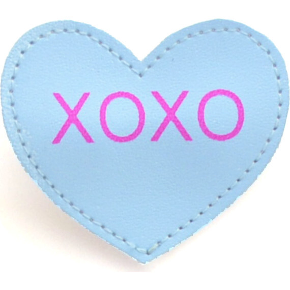 Conversation Heart Clip, Blue