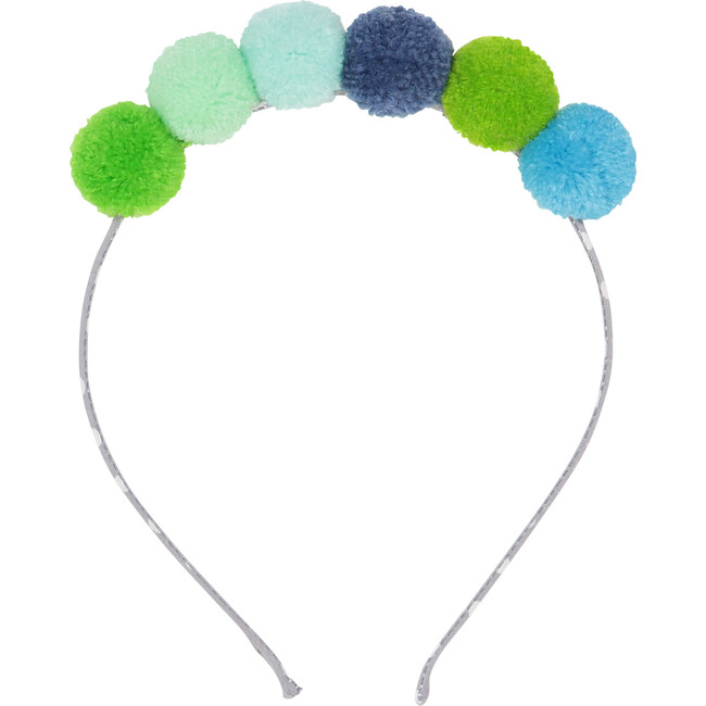 Pompom Headband, Blue