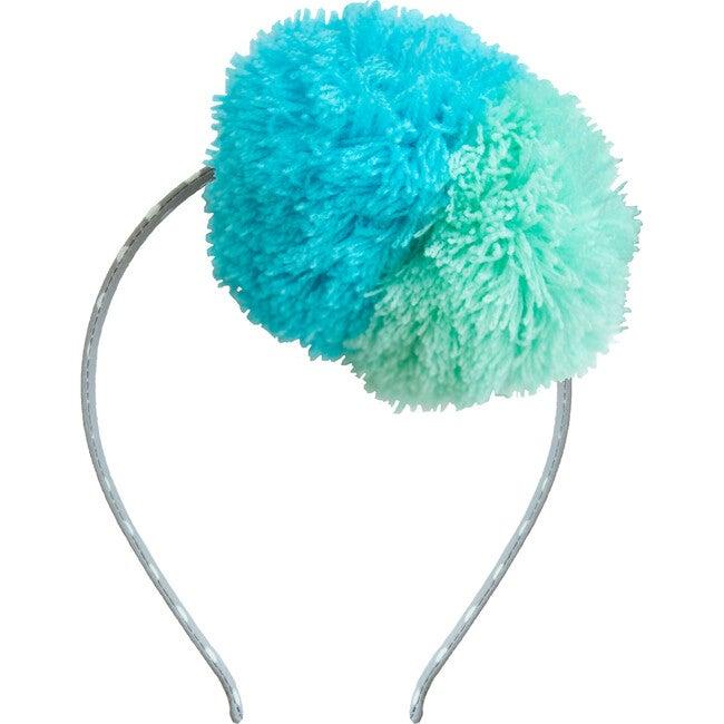 Fuzzy Pompom Headband, Sea
