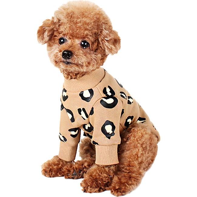 Leopard Dog Sweatshirt, Beige