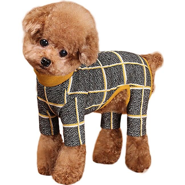 Check Dog Onesie, Mustard