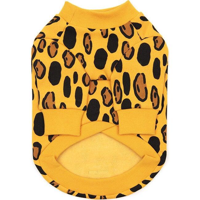Animal Print Dog Sweatshirt, Yellow