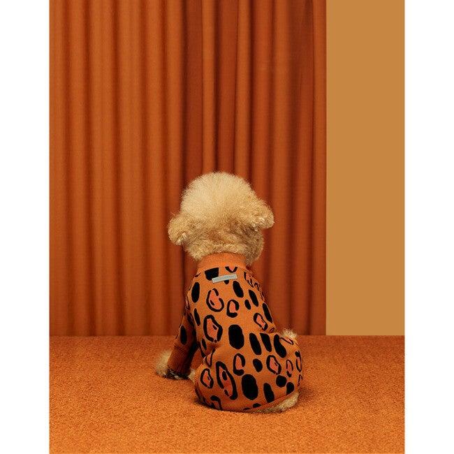 Animal Print Dog Onesie, Brown