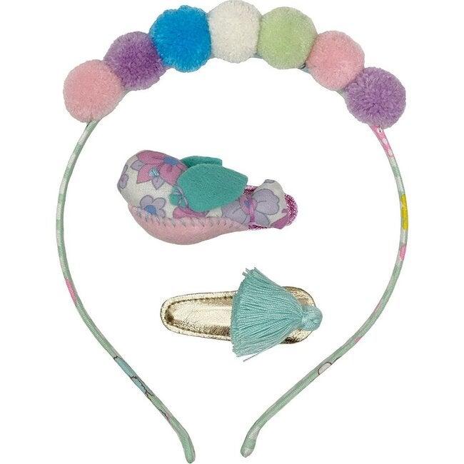 Headband & Hair Clip Set Ice Cream, Multi