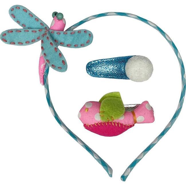 Dragonfly & Hb Hair Clip Set Dot, Multi