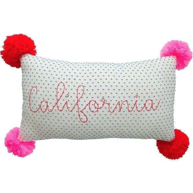 California Pillow, Blue