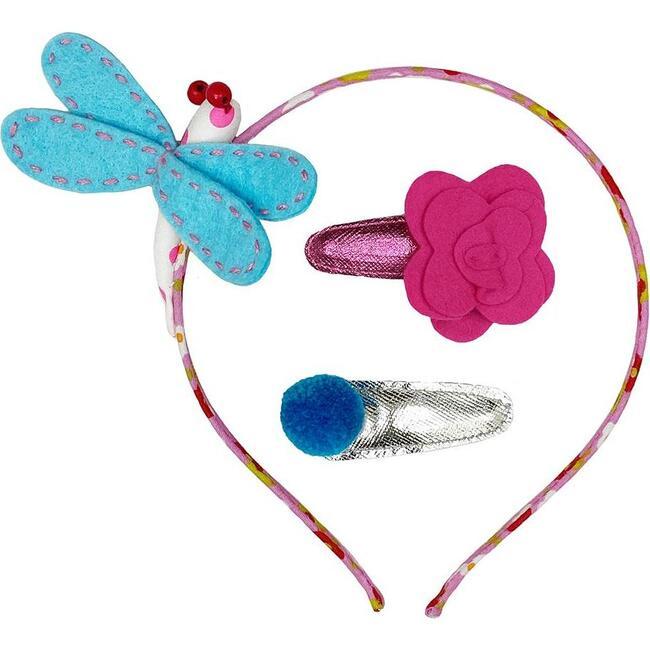 Dragonfly & Hb Hair Clip Set, Multi