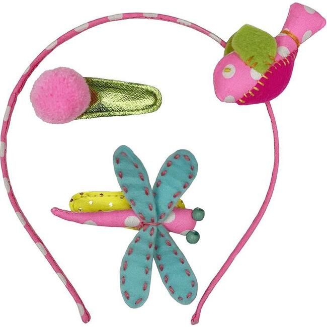 Birdie & Hb Hair Clip Set Dot, Pink