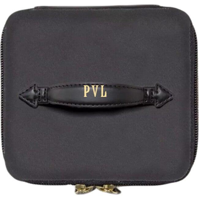 Monogrammable Mini See-All Vanity Case, Derby Black