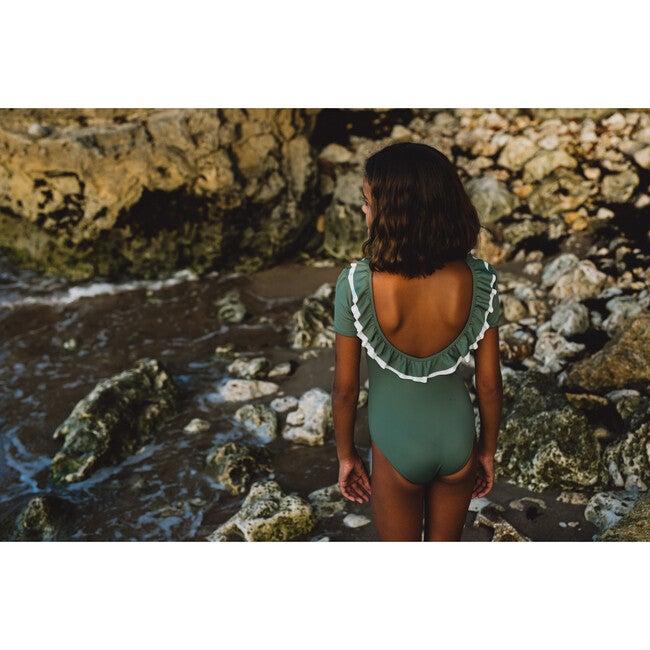 Carlotta Swimsuit, Sage Green/Ivory