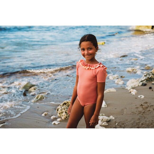 Carlotta Swimsuit, Coral/Peach Pink