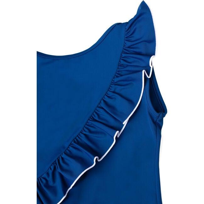 Beatrice One Piece Swimsuit, Night Blue/Ivory