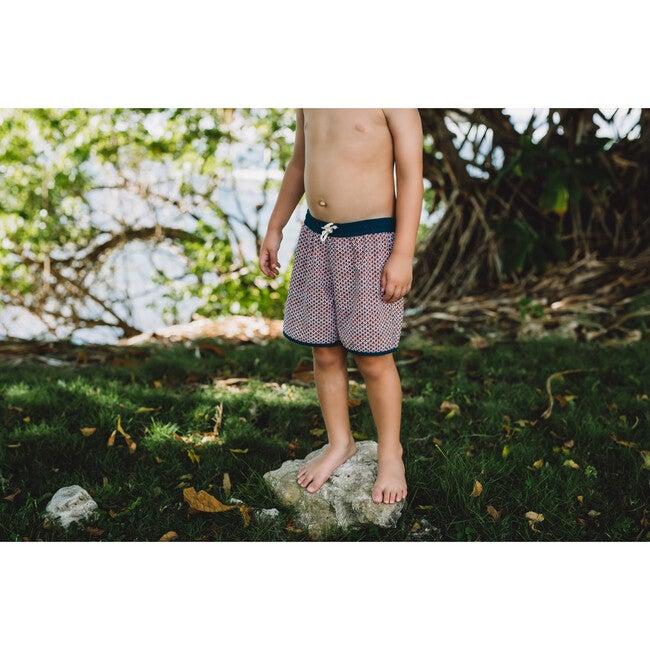 Tommaso Shorts, Tropical Leaves/Cinnamon