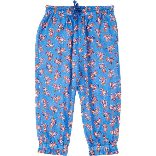 Shrimp Trousers, Bright Floral Blue