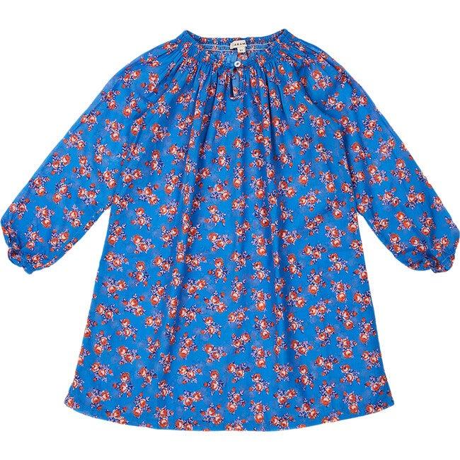 Arowana Dress, Bright Floral Blue