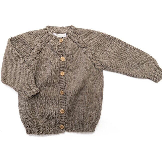 Hand-knitted Cotopaxi Cardigan, Taupe