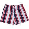 Men's Haya Red Swim Trunks, Mid - Swim Trunks - 1 - thumbnail
