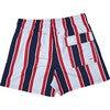 Men's Haya Red Swim Trunks, Mid - Swim Trunks - 2