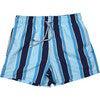Men's Haya Blue Swim Trunks, Mid - Swim Trunks - 1 - thumbnail