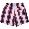 Men's Haya Red Swim Trunks, Long - Swim Trunks - 2