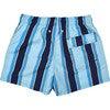 Men's Haya Blue Swim Trunks, Mid - Swim Trunks - 2