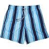 Men's Haya Blue Swim Trunks, Long - Swim Trunks - 1 - thumbnail