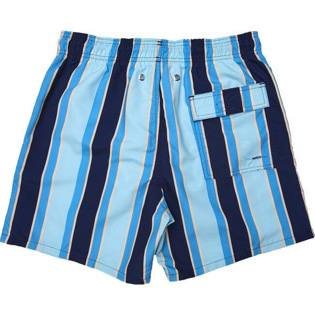 Men's Haya Blue Swim Trunks, Long