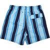 Men's Haya Blue Swim Trunks, Long - Swim Trunks - 2