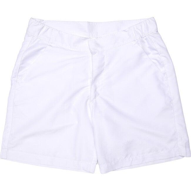 Men's White Band Swim Trunks, Long