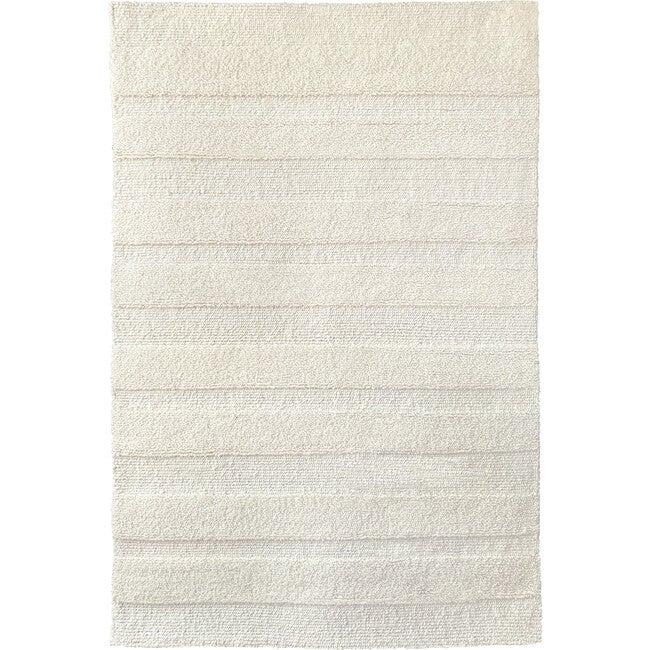 Pure Stripe Wool Rug, Ivory