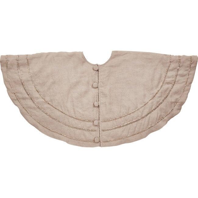 Tree skirt, Nailhead on Natural Linen