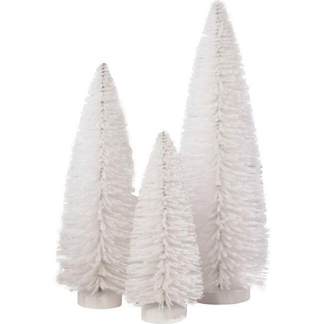 Winter White Flocked Trees, Set of 3