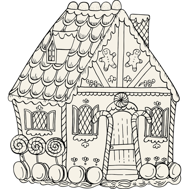 Gingerbread House Color Placemat