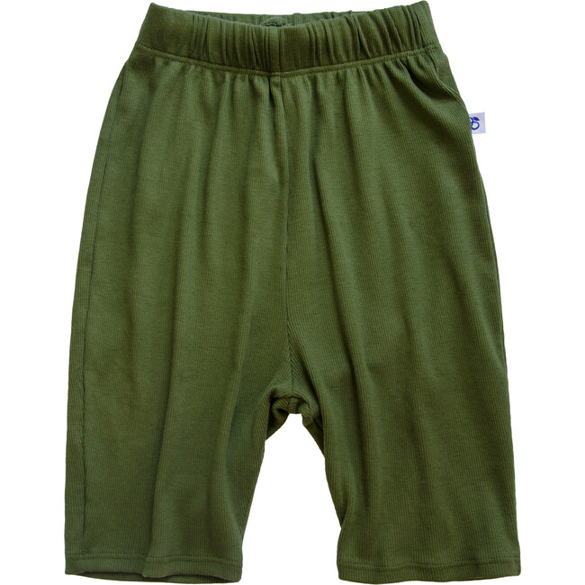 Ribbed Wide Pants, Olivine