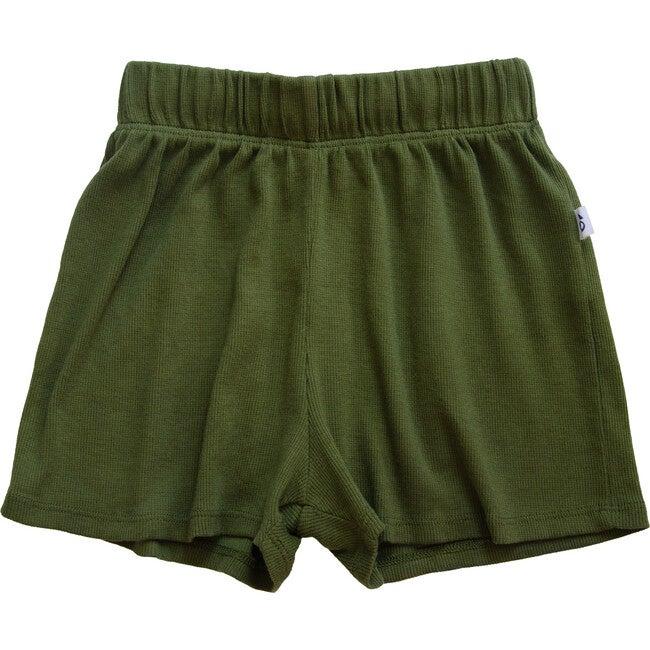 Ribbed Shorts, Olivine