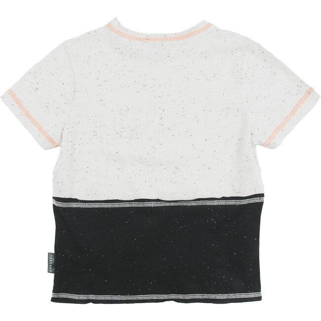 Holiday T-Shirt, Black Ecru Neppy