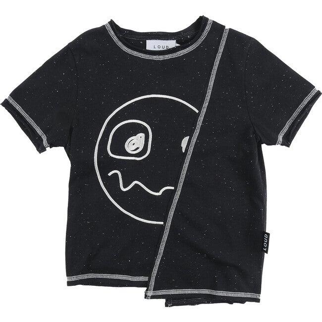 Tropic Oversize Fit T-Shirt, Black Neppy
