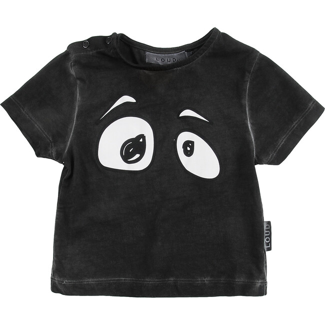 Look T-Shirt, Black Washed