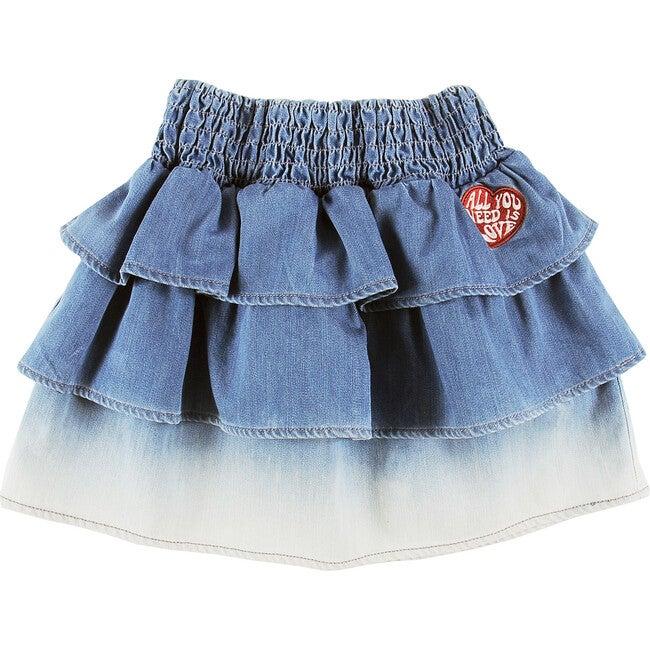 Star High Rise Smock Skirt, Bleach Blue