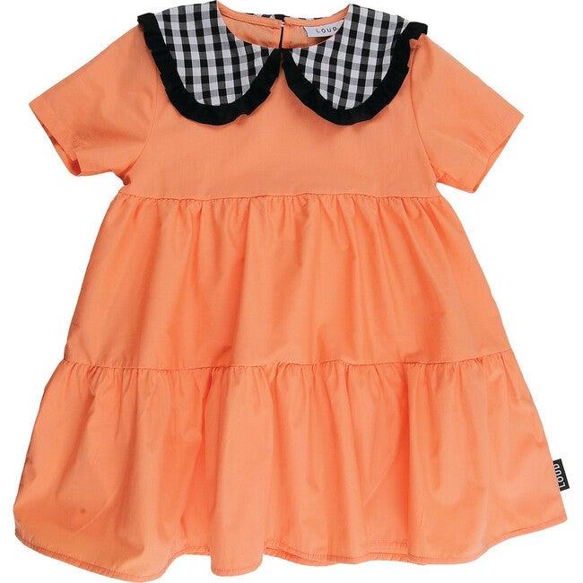 Blossom Dress, Coral Check