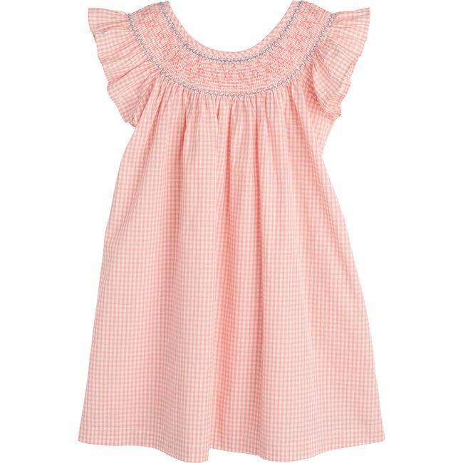 Farrah Dress, Pink Gingham