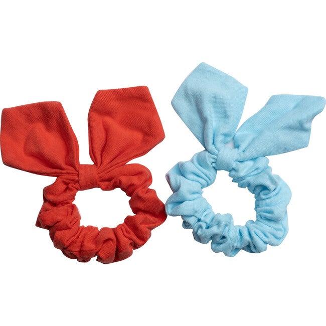 Lola Hairtie Set, Poppy Red & Crystal Blue
